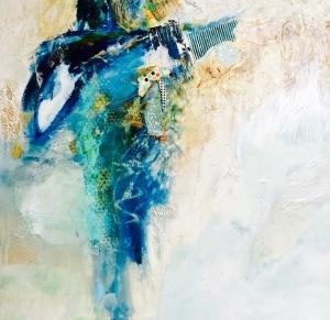 Linda-laflamme-toile-art-ciel-cascade-emeraudes