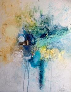 Linda-laflamme-toile-art-eau-torrent