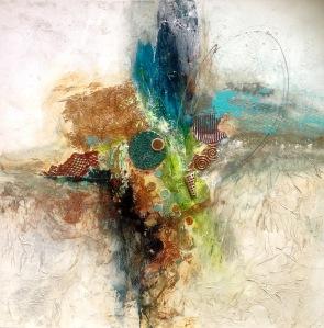Linda-laflamme-toile-art-metaux-eclosion-cuivree