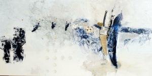 Linda-laflamme-toile-art-metaux-perles-bleutees